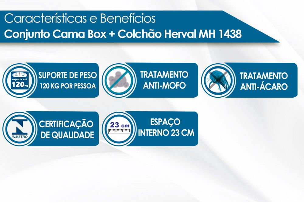 Conjugado Box Baú Herval Molas Bonnel MH 1438 Evolution