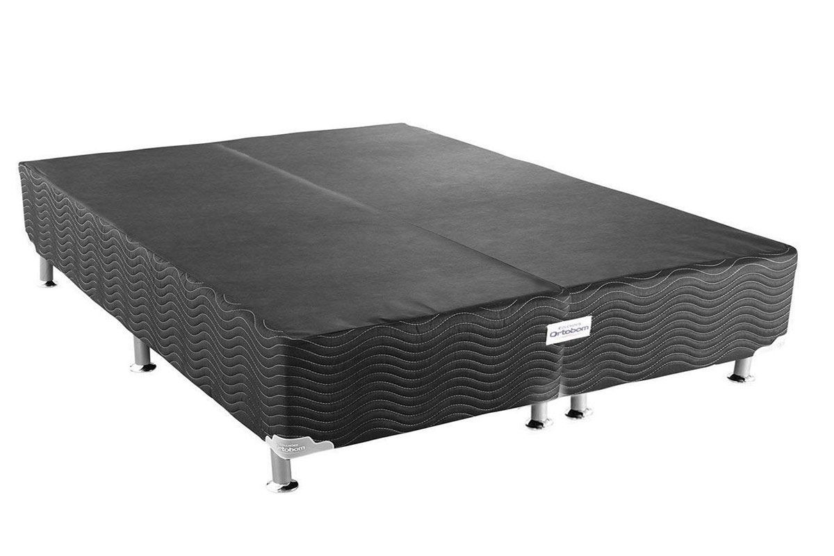 Cama Ortobom Box Base Ortobom Physical Black 20Cama Box King Size - 1,93x2,03x0,20 - Sem Colchão